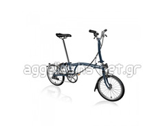 BROMPTON STEEL M6L FOLDING BIKE WITH MUDGUARDS & FRONT CARRIER BLOCK (World Racycles)